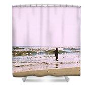 Turquoise Bathing Suit Shower Curtain