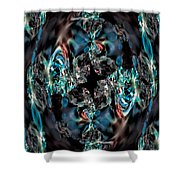 Turquoise Crystals Shower Curtain