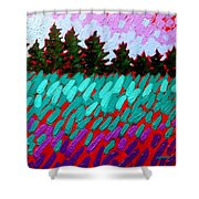 Turquoise Field Shower Curtain