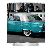Turquoise Thunderbird Shower Curtain