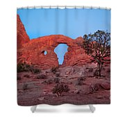 Turret At Sunrise Shower Curtain