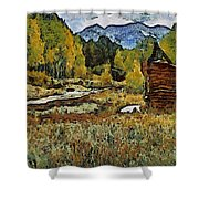 Turrett - Homage Vangogh Shower Curtain