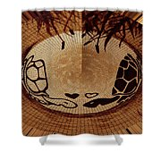 Turtles Love Digital Artwork Shower Curtain