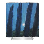 Tuscan Cyprus Trees Shower Curtain