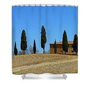 Tuscan House  I Cipressini/italy/europe  Shower Curtain