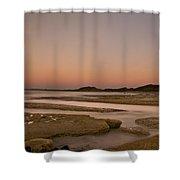 Twilight After A Sunset At A Beach Shower Curtain