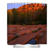 Twilight Cathedral Shower Curtain by Mike  Dawson