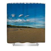 Twilight During A Sunset At A Beach With Beautiful Clouds Shower Curtain