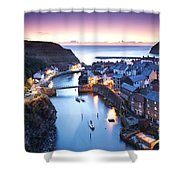 Twilight Glow Staithes Shower Curtain