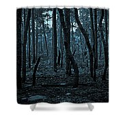 Twilight In The Smouldering Forest Shower Curtain