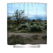 Twilight Near Santa Fe Shower Curtain