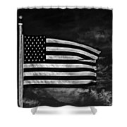 Twilight's Last Gleaming Bw Shower Curtain by David Dehner