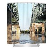 Twin Bridges Shower Curtain