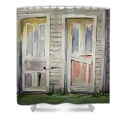 Twin Doors Shower Curtain