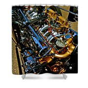 Twin Engines Shower Curtain