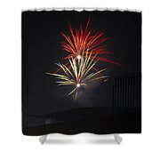Twin Fireworks Shower Curtain