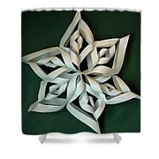 Twisted Paper Christmas Star Shower Curtain