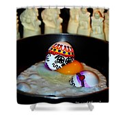 Twisted Rhymes Shower Curtain