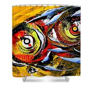 Two Around The World Shower Curtain