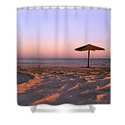 Two Beach Umbrellas Shower Curtain