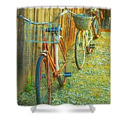 Two Bicyles Shower Curtain