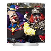 Two Clowns Shower Curtain