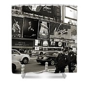 Two Cops On Broadway Shower Curtain