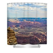 Two Crows Watch Over The Canyon Shower Curtain
