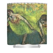 Two Dancers Relaxing Shower Curtain