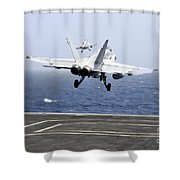 Two Fa-18c Hornet Strike Fighters Shower Curtain
