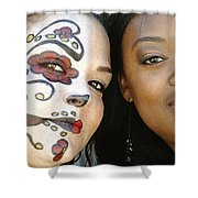 Two Faces Shower Curtain