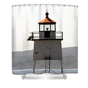Two Harbors Lighthouse Shower Curtain
