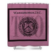 Two In Light Pink Shower Curtain