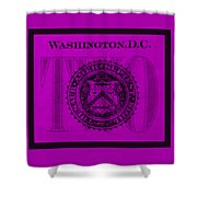 Two In Purple Shower Curtain
