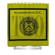 Two In Yellow Shower Curtain