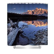 Two Jack Lake Banff Canada Shower Curtain