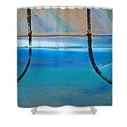 Two Kimono Tsunami Shower Curtain
