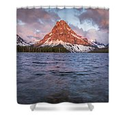 Two Medicine Lake Panorama Shower Curtain