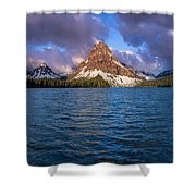 Two Medicine Morning Panorama Shower Curtain