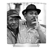 Two Men In Ubud Shower Curtain