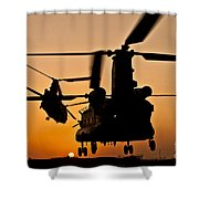 Two Royal Air Force Ch-47 Chinooks Take Shower Curtain