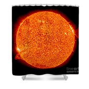 Two Solar Prominences Erupt Shower Curtain
