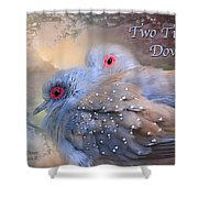 Two Turtle Doves Card Shower Curtain