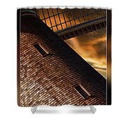 Two Window Mill Shower Curtain