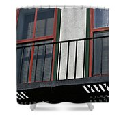 Two Windows Shower Curtain