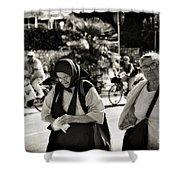 Two Women In Rovinj 2 Shower Curtain