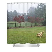 Two Yellow Chairs 2 Shower Curtain