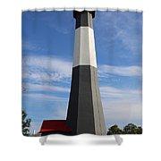 Tybee Island Lighthouse On Beautiful Day Shower Curtain