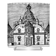 Tycho Brahes Observatory Shower Curtain
