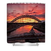 Tyne Bridges At Sunrise IIi Shower Curtain